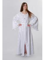 Сукня «Гуцульська» білого кольору, довга