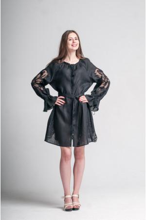 Платье «Чудо-цветок» черного цвета
