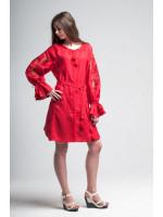 Сукня «Диво-квітка» червоного кольору