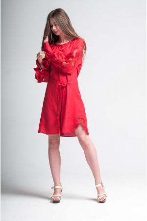 Платье «Чудо-цветок» красного цвета