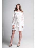 Платье «Чудо-цветок» белого цвета