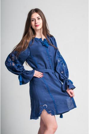 Сукня «Диво-квітка» синього кольору