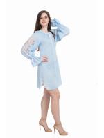 Сукня «Диво-квітка» блакитного кольору, коротка
