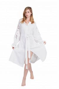 Сукня «Диво-квітка» біла, середньої довжини