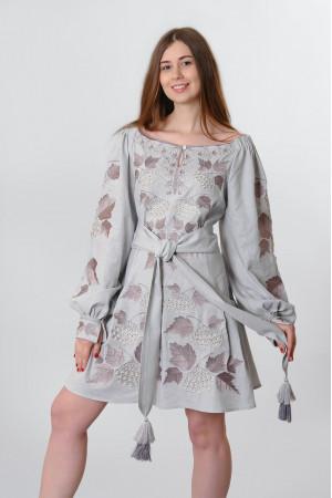 Сукня «Калина» сірого кольору, коротка