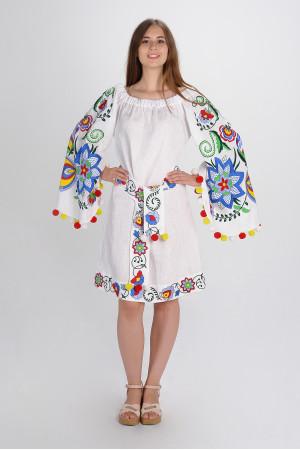 Платье «Крылья лета» белого цвета