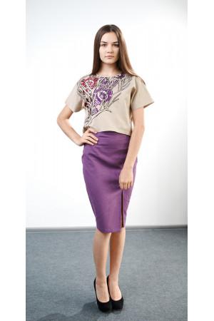 Блуза «Горяна» бежевого кольору