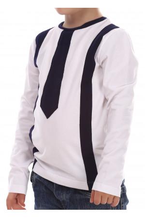 Джемпер «Кронкс» білого кольору з синім