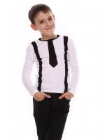 Джемпер «Кронкс» білого кольору з чорним