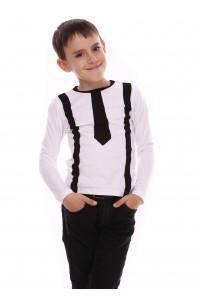 Джемпер «Кронкс» белого цвета с черным