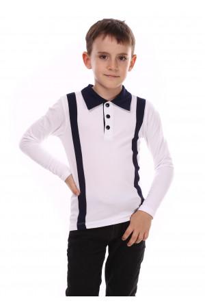 Джемпер «Вудди» белого цвета с синим