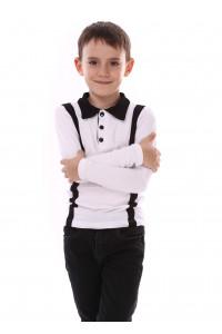 Джемпер «Вудди» белого цвета с черным