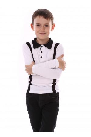 Джемпер «Вудді» білого кольору з чорним