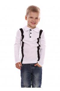 Джемпер «Клод» белого цвета с черным