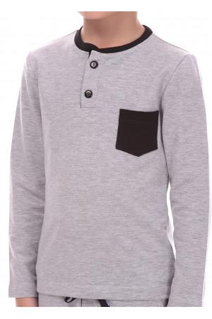 Джемпер «Берк» сірого кольору з чорним