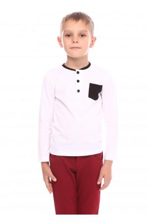Джемпер «Берк» білого кольору з чорним