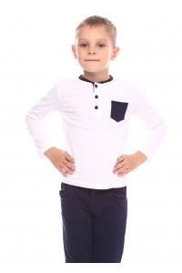 Джемпер «Берк» білого кольору з синім