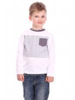 Джемпер «Дрон» белого цвета с серым