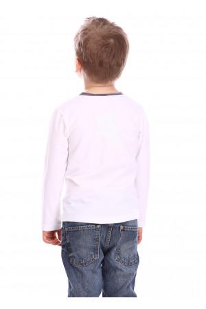 Джемпер «Дрон» білого кольору з сірим