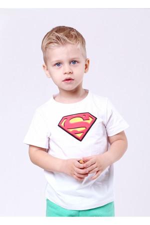 Футболка «Супергерой» белого цвета