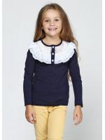 Джемпер «Фанні» темно-синього кольору з білим