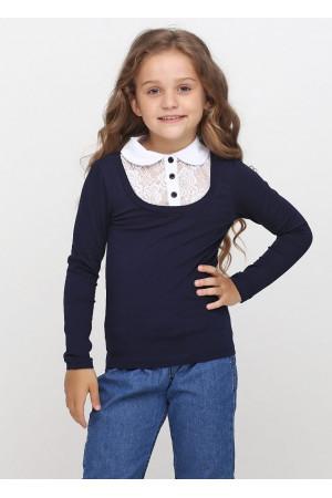 Джемпер «Файна» темно-синього кольору з білим