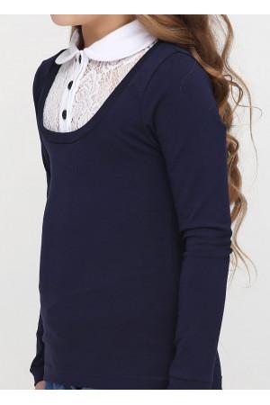 Джемпер «Файна» темно-синего цвета с белым