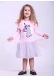 Сукня «Веселий єдиноріг» рожевого кольору з сірим