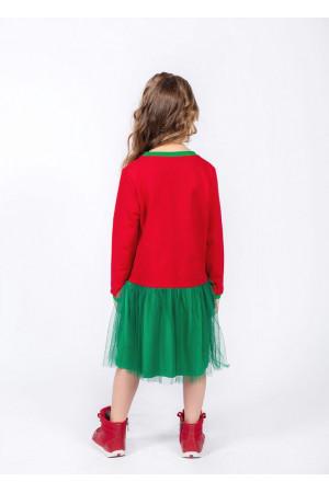 Сукня «Діпсі» червоного кольору із зеленим