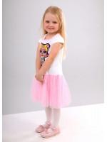 Платье «Бейби» молочного цвета с розовым КР
