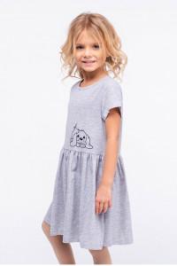 Платье «Лаки» серого цвета