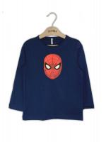 Реглан «Человек-паук» синего цвета