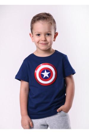 Футболка «Капитан Америка» синего цвета