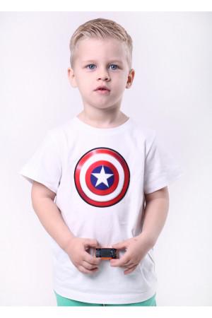 Футболка «Капітан Америка» білого кольору