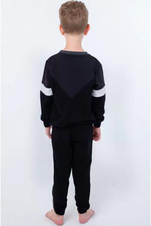 Спортивный костюм «Артем» черного цвета