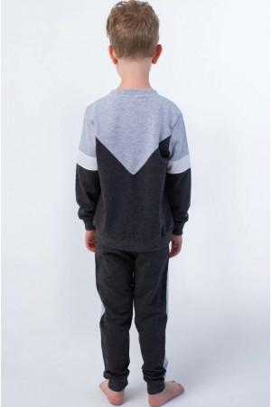 Спортивный костюм «Артем» серого цвета