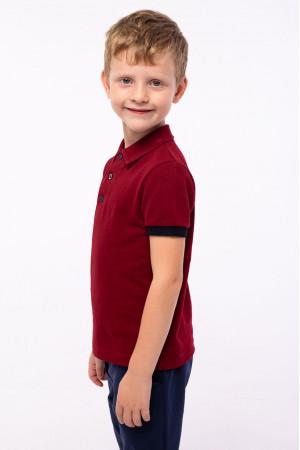 Футболка «Стефан» бордового кольору