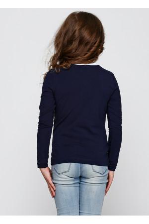 Джемпер «Саманта» темно-синего цвета с белым