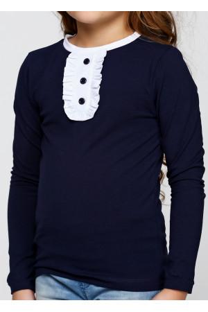 Джемпер «Саманта» темно-синього кольору з білим