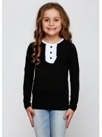 Джемпер «Саманта» черного цвета с белым