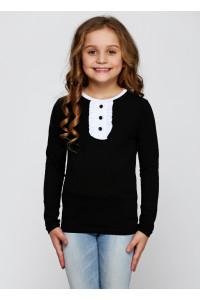 Джемпер «Саманта» чорного кольору з білим