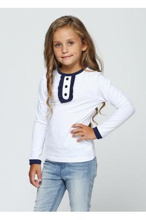Джемпер «Саманта» білого кольору з синім