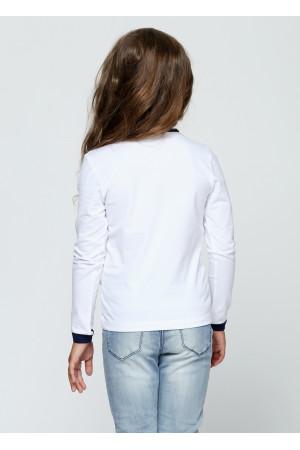 Джемпер «Саманта» белого цвета с синим
