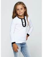 Джемпер «Саманта» белого цвета с черным