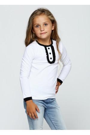 Джемпер «Саманта» білого кольору з чорним