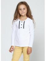 Джемпер «Нора» белого цвета с черным