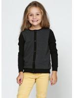 Джемпер «Ариана» черного цвета с серым