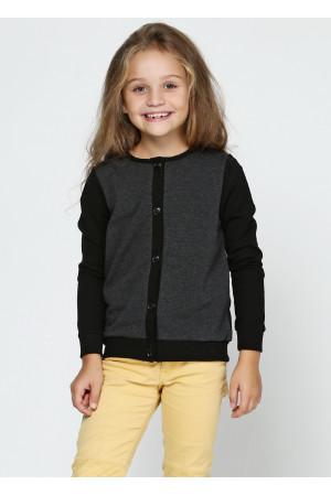 Джемпер «Аріана» чорного кольору з сірим