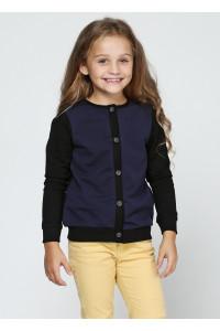 Джемпер «Ариана» черного цвета с синим