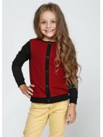 Джемпер «Аріана» чорного кольору з бордовим